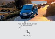 Preisliste Mercedes-Benz Viano Marco Polo, 6/2003