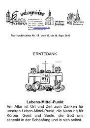 ERNTEDANK Lebens-Mittel-Punkt Am Altar ist Ort und Zeit zum ...