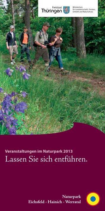 Veranstaltungen (PDF) - Naturpark Eichsfeld-Hainich-Werratal