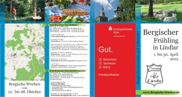 Download als PDF - Bergischen Wochen