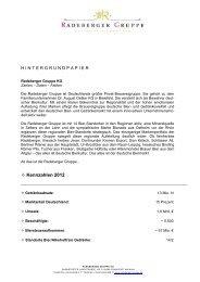 Fact sheet - Radeberger Gruppe KG