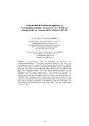 Adaption von Kollaborationssystemen in Forschungsnetzwerken ...