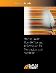 Mortar Color: How-To Tips and Information for ... - Davis Colors