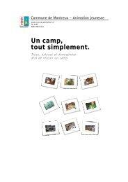 Un camp, tout simplement. - Animation jeunesse