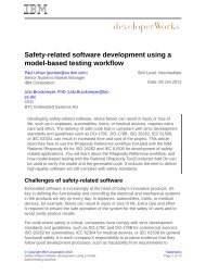 Safety-related software development using a model-based ... - IBM