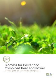 Biomass for Power and Combined Heat and Power