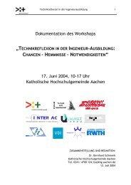 Dokumentation des Workshops 17. Juni 2004, 10-17 Uhr ... - Inter AC