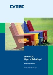 Low VOC High solid Alkyd for Decorative Paint - Cytec