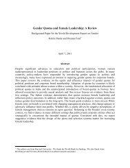 Gender Quotas and Female Leadership - Harvard Kennedy School ...