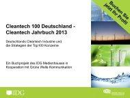 Cleantech Jahrbuch 2013 - Grüne Welle Kommunikation