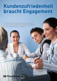 Kundenzufriedenheit braucht Engagement - Pitney Bowes ...