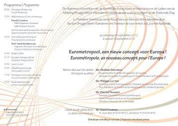 Eurométropole, un nouveau concept pour l'Europe