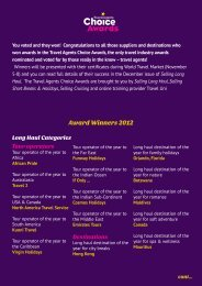 Award Winners 2012 - Selling Long Haul