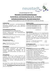 und Gewerbeschau am Sa., 17.03.2012 ... - Trenz AG