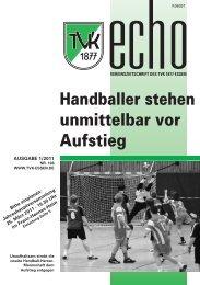 Handballer stehen unmittelbar vor Aufstieg - Turnverein 1877 eV ...