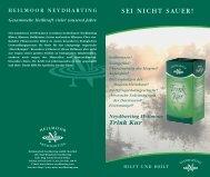 Produktfolder Trink Kur - Neydharting Moor