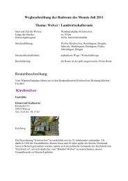 Routenbeschreibung - Wirtschaftsförderung Kreis Soest - Tourismus