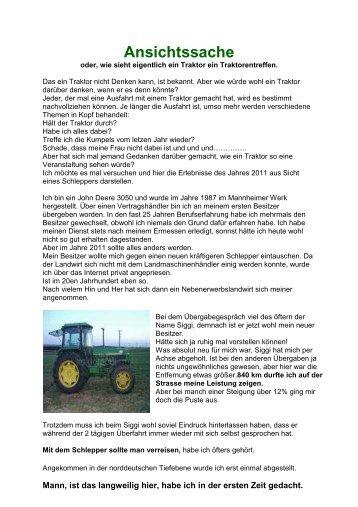 Ansichtssache - Traktorreisen.eu