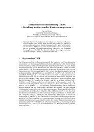 Verteilte Referenzmodellierung - Institut für Wirtschaftsinformatik ...