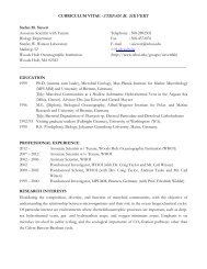 CURRICULUM VITAE - Woods Hole Oceanographic Institution