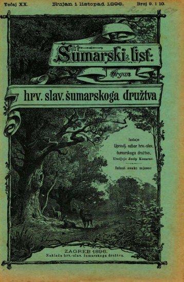 ŠUMARSKI LIST 9-10/1896
