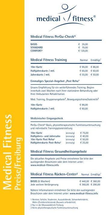 Medical Fitness Preisliste Freiburg zum Download - Mooswaldklinik