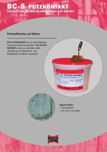 Hier können Sie das Produkt PDF incl. der - BADEN-CHEMIE GmbH