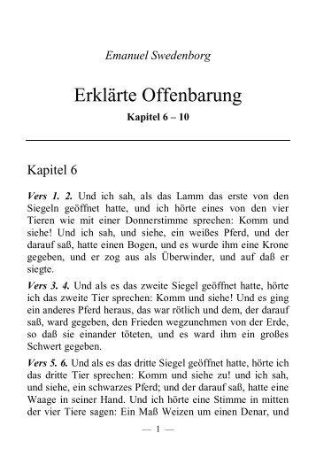 Kapitel 6 - 10 - Offenbarung