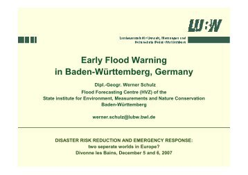 Flooding early warning system in Baden Württembergsur ... - AFPCN