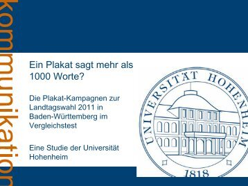 Ergebnis-Präsentation - Universität Hohenheim