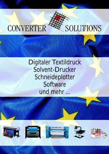 Digitaler Textildruck Solvent-Drucker Schneideplotter Software und ...