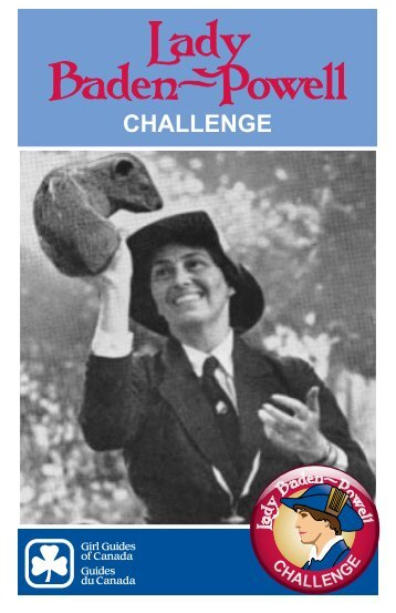 Lady Baden Powell Challenge booklet - Girl Guides of Canada