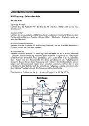 Anreise nach Karlsruhe Mit Flugzeug, Bahn oder Auto - ITE