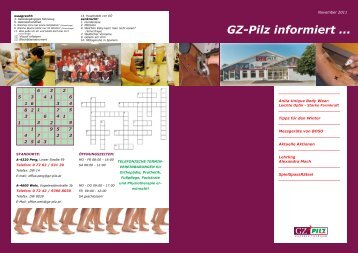 GZ-Pilz informiert ... - Gesundheitszentrum PILZ