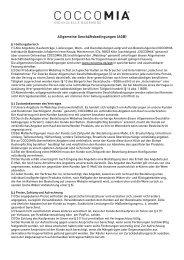 Allgemeine Geschäftsbedingungen (AGB) - Coccomia