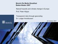 Munich Re Media Breakfast Baden-Baden 2007 - Natural hazards ...