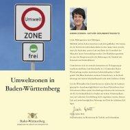 Umweltzonen in Baden-Württemberg - Ministerium für Verkehr und ...
