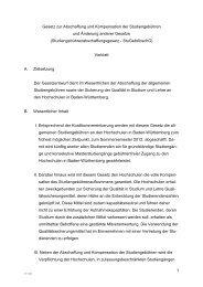 1 Gesetz zur Abschaffung und Kompensation der Studiengebühren ...