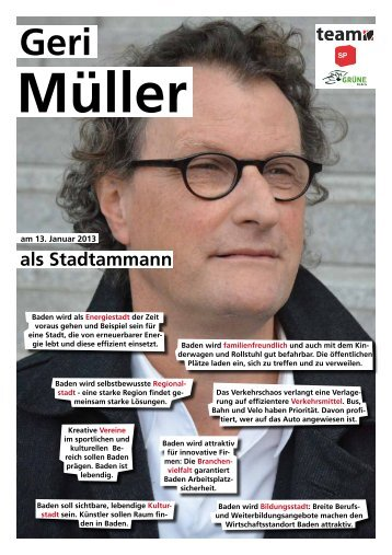 als Stadtammann - Geri Müller