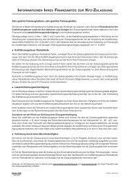 Einzugsermächtigung für die KFZ-Steuer