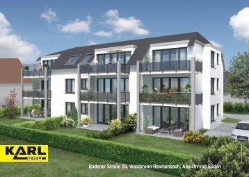 Badener Straße 2B, Waldbronn-Reichenbach, Ansicht ... - Karl Bau