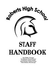 District Educational Support Services - Roberts High School