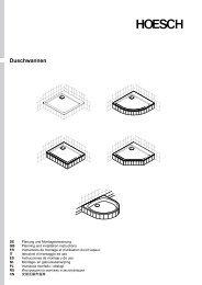 Montage-/Bedienungsanleitung - Hoesch