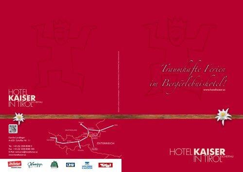 Das Kaiser in Tirol Image-Prospekt zu Downloaden - Hotel Kaiser in ...