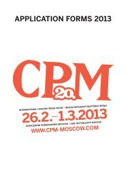 APPLICATION FORMS 2013 - CPM Moscow