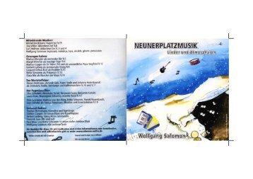Booklet zum Selberbasteln (PDF) - wolfgang salomon