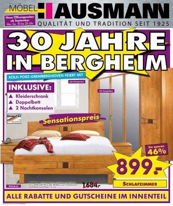 Hausmann Bergheim 30 free magazines from moebel hausmann de
