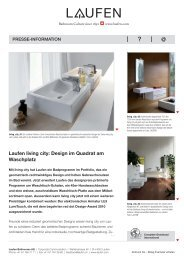 Laufen living city: Design im Quadrat am Waschplatz