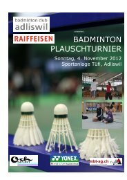 Turnierheft 2012 - Badminton Club Adliswil