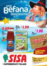 1,99 - SpesaNova Supermercati Sisa
